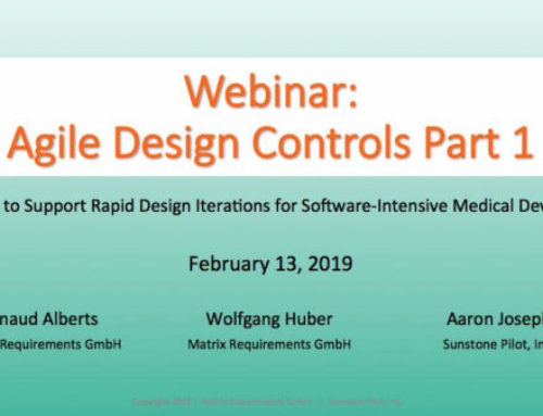Webinar: Agile Design Controls: How to Support Rapid Design Iterations for SW-Intensive Medical Devices